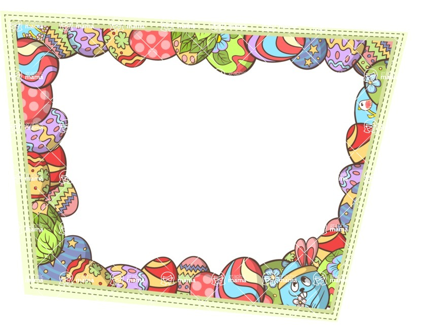 Vector Frame with Easter Eggs   GraphicMama