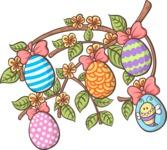 Easter Vectors - Mega Bundle - Branch of Easter Eggs
