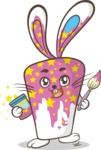 Easter Vectors - Mega Bundle - Bunny Covered in Paint