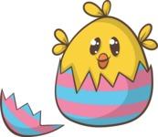 Easter Vectors - Mega Bundle - Chick Hatching