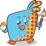 Easter Vectors - Mega Bundle - Chick Painting Easter Egg