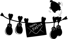 Easter Vectors - Mega Bundle - Clothesline with Easter Eggs