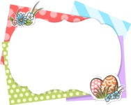 Easter Vectors - Mega Bundle - Colorful Easter Frame