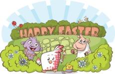 Easter Vectors - Mega Bundle - Cute Animals at Easter