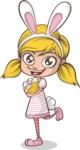 Easter Vectors - Mega Bundle - Cute Girl with Easter Eggs