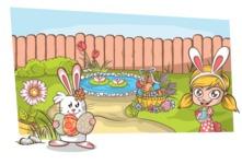 Easter Vectors - Mega Bundle - Easter Around the Pond