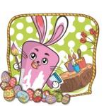 Easter Vectors - Mega Bundle - Easter Bunny Painting Eggs