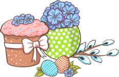 Easter Vectors - Mega Bundle - Easter Cake and Eggs