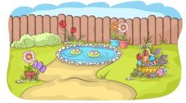 Easter Vectors - Mega Bundle - Easter Decorated Yard