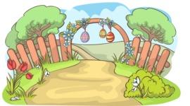 Easter Vectors - Mega Bundle - Easter Decoration Outdoors