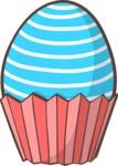Easter Vectors - Mega Bundle - Easter Egg in a Cupcake Liner