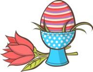 Easter Vectors - Mega Bundle - Easter Egg on a Stand