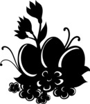 Easter Vectors - Mega Bundle - Easter Eggs Among Flowers Silhouette