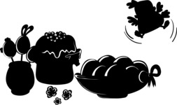 Easter Vectors - Mega Bundle - Easter Eggs and Cake Silhouettes