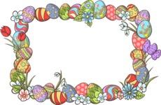 Easter Vectors - Mega Bundle - Easter Eggs Frame