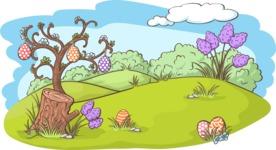Easter Vectors - Mega Bundle - Easter Eggs in Nature