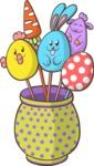 Easter Vectors - Mega Bundle - Easter Eggs on Sticks