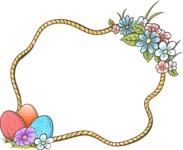 Easter Vectors - Mega Bundle - Easter Frame