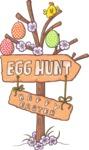 Easter Vectors - Mega Bundle - Egg Hunt Sign