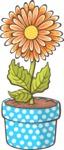 Easter Vectors - Mega Bundle - Flower in a Flowerpot 1