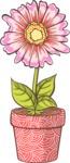 Easter Vectors - Mega Bundle - Flower in a Flowerpot 2