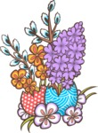 Easter Vectors - Mega Bundle - Flowers and Easter Eggs