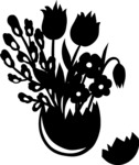 Easter Vectors - Mega Bundle - Flowers in Cracked Egg Vase Silhouette