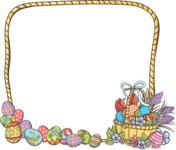 Easter Vectors - Mega Bundle - Frame with Easter Basket
