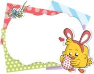 Easter Vectors - Mega Bundle - Frame with Easter Chick
