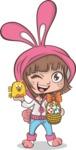 Easter Vectors - Mega Bundle - Girl with Easter Eggs