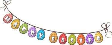 Easter Vectors - Mega Bundle - Happy Easter Banner Flags