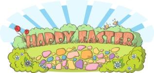 Easter Vectors - Mega Bundle - Happy Easter Illustration