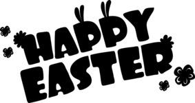 Easter Vectors - Mega Bundle - Happy Easter Silhouette