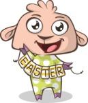 Easter Vectors - Mega Bundle - Happy Lamb