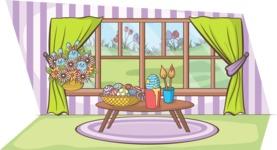 Easter Vectors - Mega Bundle - Painting Easter Eggs