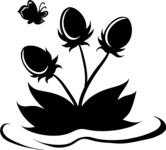 Easter Vectors - Mega Bundle - Pond Flower Silhouette