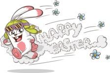 Easter Vectors - Mega Bundle - Running Easter Bunny