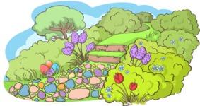 Easter Vectors - Mega Bundle - Spring Pathway in Nature