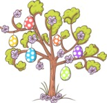 Easter Vectors - Mega Bundle - Tree with Easter Eggs