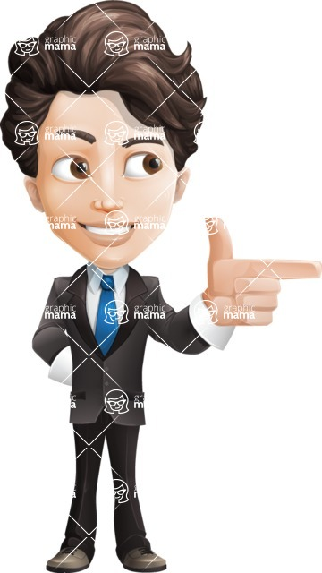 Little Boy Businessman Cartoon Vector Character AKA David - Point2