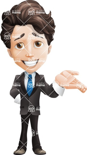 Little Boy Businessman Cartoon Vector Character AKA David - Sorry