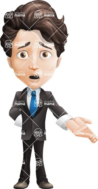 Little Boy Businessman Cartoon Vector Character AKA David - Stunned