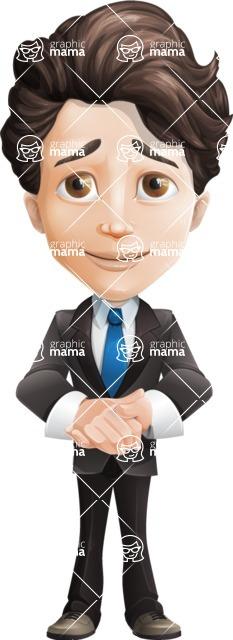 Little Boy Businessman Cartoon Vector Character AKA David - Patient