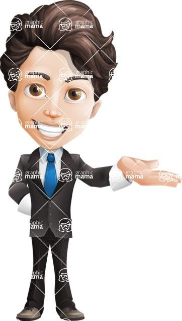Little Boy Businessman Cartoon Vector Character AKA David - Showcase