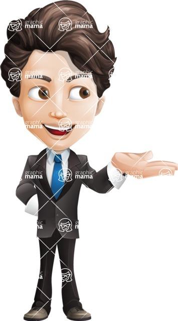 Little Boy Businessman Cartoon Vector Character AKA David - Showcase2