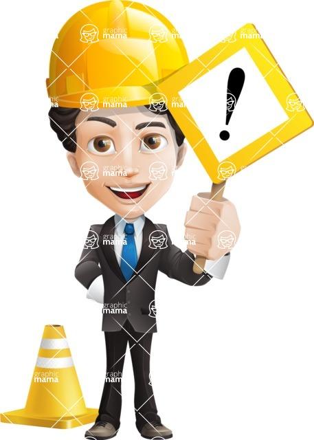 Little Boy Businessman Cartoon Vector Character AKA David - Under Construction1