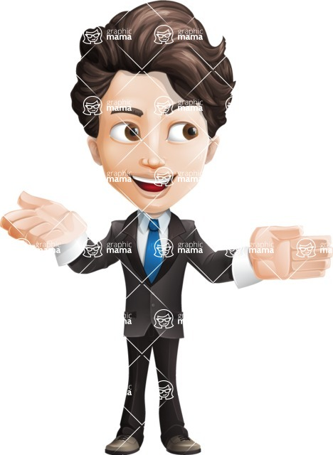 Little Boy Businessman Cartoon Vector Character AKA David - Show2
