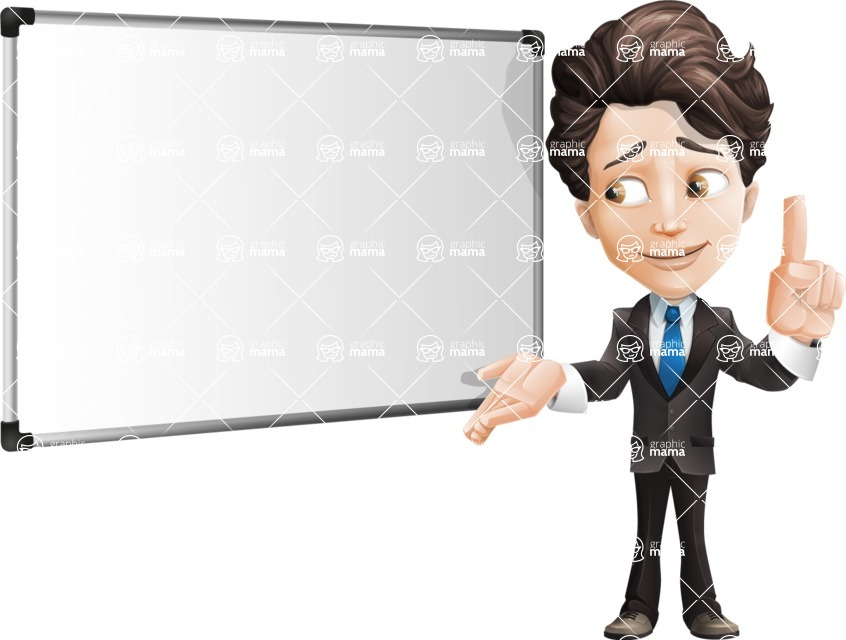Little Boy Businessman Cartoon Vector Character AKA David - Presentation5