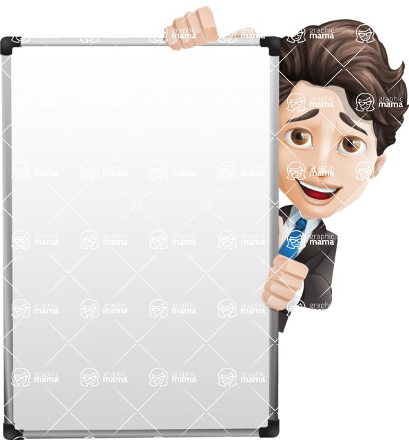 Little Boy Businessman Cartoon Vector Character AKA David - Presentation6