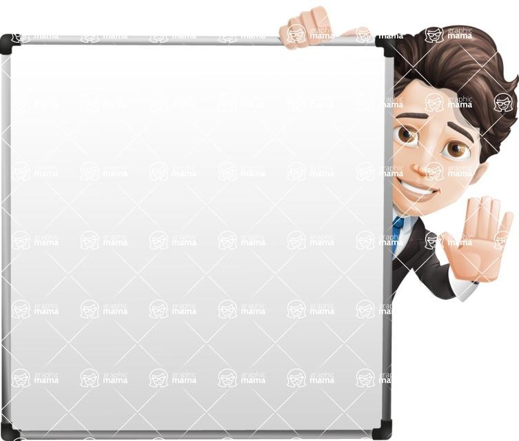 Little Boy Businessman Cartoon Vector Character AKA David - Presentation7